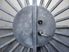 Gate close-up (Jaedde & Sis) Tags: gate sun lock handle metal round perpetualwinner friendlychallenges sweep pregamewinner gamewinner flickrchallengewinner flickrchallengegroup