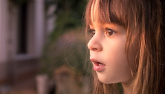 Mesmerized (Bai R.) Tags: girl child childhood sunset magical mesmerize hypnosis eyes