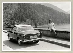 "BMW 700 Coupé (Vintage Cars & People) Tags: vintage classic black white ""blackwhite"" sw photo foto photography automobile car cars motor bmw bmw700 girl woman lady fashion polkadot polkadots 1960s sixties beehive"