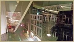 Vue sur la place Xavier Neujean du Cinéma Sauvenière, Liège, Belgium (claude lina) Tags: claudelina belgium belgique belgïe liège cinéma cinémasauvenière reflets reflections
