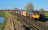 66756 4L22 Hams Hall to Felixstowe at Langham Junction (Iain Wright Photography) Tags: langham junction rutland gbrf gbrailfreight ukrail flickr nikon 50mm f18 d7200 sunshine 4l22 hams hall felixstowe class66 class 66 66756 royal signal corps named train railway uk pole poletop photography harris painters 5 metres cable flickrunitedaward united award favourite