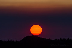 Sun Rise Through a Smoke Filter (Jeffrey Sullivan) Tags: california usa easternsierra landscape nature canon 5dmarkii photo timelapse copyright june 2012 jeff sullivan photography sunrise sun ruse forestfire fire wildfire