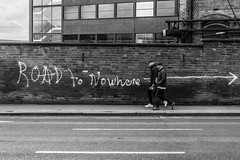 Where you been? (EightBitTony) Tags: 2018 canon6d brickwall people beercan city nottingham beer hat man urban road march baseballcap men male pavement bricks citycentre streetphotography blackandwhite uk nottinghamshire bw blackwhite canon canondslr canoneos canoneos6d mono monochrome england unitedkingdom gb