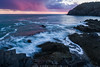 Coastal Rainstorm at Sunset (Adam Woodworth) Tags: bayoffundy boldcoast cliffs downeast headlands lubec maine ocean rain rainshowers rainstorm seacoast seaweed sunset waves westquoddyheadstatepark