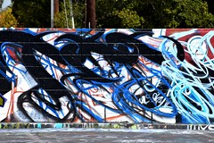 Crazy wall art (thomasgorman1) Tags: abstract wall art nikon yuma az arizona urban city painting colors crazy