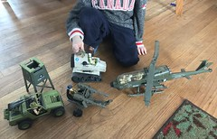 Every thing old is new my six year old is loving life right now. Pulled out some of my old Joes and he's having a blast. I forgot how cool the vintage Joes are. And my old MOBAT tanks still works. (chevy2who) Tags: snakeeyes stromshadow gungho clutch sgtslaughter vamp mobat action figure actions toyphotography toy gijoe gi