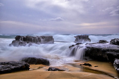 The Waves Of  Change (karenhunnicutt) Tags: pacificocean oahu hawaii sandybeach waves rocks sand paradise travelphotography karenhunnicuttphotography