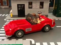 It is so choice. (Hobbestimus) Tags: lego moc ferrisbueller ferrari 1961 250 gt california 80s movie toys cameron sloane