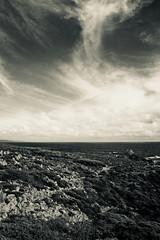 Sky Resembling Land (NatalieTracy) Tags: margaretriverregion capenaturaliste westernaustralia australia sugarloafrock rock nature sky clouds ocean water sea coast blackandwhite nationalpark indianocean