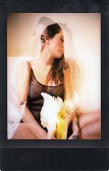 instant film (La fille renne) Tags: film analog instantfilm instax instaxmini instaxminiblack portrait woman lafillerenne fujifilm lucierimeymeille lucie mx doubleexposure multipleexposure