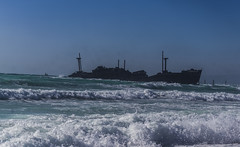 Greek Ship, Iran ($ALEH) Tags: کیش iran kishisland beach ساحل wave موج دریا sea آب water