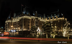 Victoria Fairmont Empress Hotel (Alcona1) Tags: victoriafairmontempresshotel bc night longexposure building victoriabc lights dark