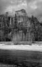 Out of the clouds, Yosemite Falls (OJeffrey Photography) Tags: yosemitefalls yosemitenationalpark yosemitevalley blackwhite bw blackandwhite stormclouds nikon d850 ojeffrey ojeffreyphotography jeffowens
