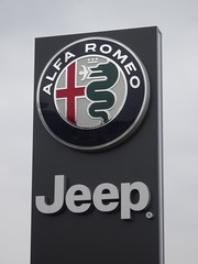 Alfa Romeo Jeep Dealership Sign (harry_nl) Tags: netherlands nederland 2018 waddinxveen alfaromeo jeep dealership sign