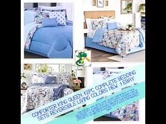 Comforter King Queen 12pc Complete Bedding Sets Reversible Living Colors New   eBay (keywebco) Tags: comforter king queen 12pc complete bedding sets reversible living colors new   ebay