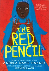The Red Pencil (Vernon Barford School Library) Tags: andreadavispinkney andrea davis pinkney shanewevans shane w evans realisticfiction realistic fiction novelsinverse refugees girls africa sudan african storiesinverse vernon barford library libraries new recent book books read reading reads junior high middle school vernonbarford fictional novel novels hardcover hard cover hardcovers covers bookcover bookcovers 9780316247801