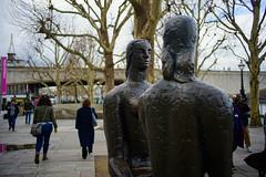 Southbank sculpture, London, February 2018 (sbally1) Tags: london southbank art sculpture facetoface city publicart
