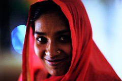 HASEENA (N A Y E E M) Tags: haseena servant maid portrait red night availablelight sangeet tusin chittagong bangladesh