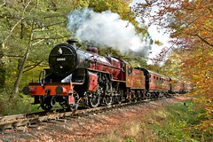 13065 Crab at Eymore Wood Crossing (andrewfarmer1) Tags: railway steamengine lms steamtrain train trains steamlocomotive severnvalleyrailway severnvalley november 2016