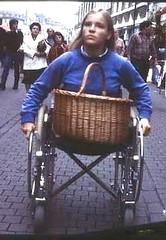 Shopping on wheels (jackcast2015) Tags: amputee legamputee wheelchairwoman wheelchair disabledwoman crippledwoman amputeewoman nolegs doubleabovekneeamputee dakamputee