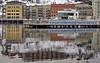 Low water levels today, as can be seen beneath the pier at Finnboda Harbour in Stockholm (Franz Airiman) Tags: finnboda finnbodahamn stockholm sweden scandinavia saltsjön vinter winter pir pier vattenstånd