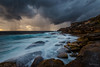 Chance of showers (Crouchy69) Tags: sunrise dawn landscape seascape ocean sea water coast clouds sky rocks long exposure cape solander kurnell sydney australia