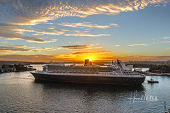 Queen Mary2 (Howie44) Tags: sydneyharbour sydney ships liner sunrise harbourbridge