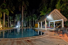 In the peaceful mood of the hacienda (Chemose) Tags: mexico mexique yucatán yucatan izamal hacienda paix peace atmosphere mood night nuit étoile stars piscine swimmingpool eau water hdr canon eos 7d mars march