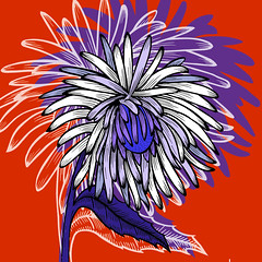 black and white aster flower (andreaeskin) Tags: aster flower abstract art background black camomile chrysanthemum contour daisy decoration design drawing element engraved floral graphic hand illustration ink isolated line outline petal retro silhouette single sketch stencil style vector white woodcut dahlia beauty bloom bud color decor draw form freehand image monochrome pen pencil postcard print tattoo painting