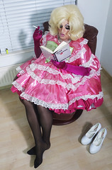 me time4 (queerina) Tags: queer dragqueen poofter petticoat poof pansy camp limpwristed heavymakeup transvestite effeminate sissy smokingcrossdresser