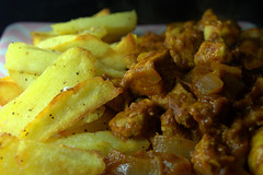 Goan Curry with Truffle Chips (Tony Worrall) Tags: add tag ©2018tonyworrall images photos photograff things uk england food foodie grub eat eaten taste tasty cook cooked iatethis foodporn foodpictures picturesoffood dish dishes menu plate plated made ingrediants nice flavour foodophile x yummy make tasted meal nutritional freshtaste foodstuff cuisine nourishment nutriments provisions ration refreshment store sustenance fare foodstuffs meals snacks bites chow cookery diet eatable fodder goan curry truffle chips fries spicy hot asian spice