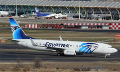 SU-GEG (GSairpics) Tags: sugeg boeing 737 b738 b738ng ng ms msr egyptair aircraft aeroplane airplane aviation transport travel jet jetliner airline airliner airport mad lemd madridbarajasairport