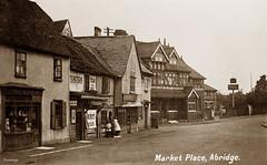 Abridge (footstepsphotos) Tags: abridge essex market place shop store harris people village pub charrington old vintage postcard past historic