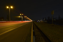 Fast Track Society (Robin Shepperson) Tags: exposure long highway truck dark composition red lights motorway vehicles d3400 nikon moabit berlin germany ditch shoulder hard lamps fast speed
