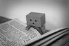 reading (*°ameLIE*°) Tags: danbo love bokeh color figure minifig toy toys photography bnw black white monochrome bianco e nero sad
