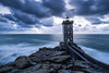 Finistere II. (darklogan1) Tags: longexposure kermorvan lighthouse bretagne dusk logan darklogan1 sony a7r2 canon 1635 f4 blue clouds sea sky ocean rock sonyilce7rm2 canon1635f4 metabones bluehour leconquet