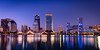 Jacksonville Panorama (James Duckworth) Tags: florida jacksonville jamesduckworthphotography architecture bluehour color dusk fineartphotography reflections river skyline water