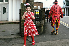 3/18 (Becky Frances) Tags: beckyfrances candid canpubphoto colourstreetphotography colour city eastlondon england fujifilm fuji fujix haggerston hackney clowns grimaldi london lensblr memorial streetphotography socialdocumentary urban uk 2018