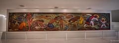 2018 - Mexico City - Museo Soumaya - 8 of 8 (Ted's photos - For Me & You) Tags: 2018 cdmx cityofmexico cropped mexico mexicocity nikon nikond750 nikonfx tedmcgrath tedsphotos tedsphotosmexico vignetting juchitánriver soumaya soumayamuseum museosoumaya tehuantepecbath diegorivera compañíademosaicosromic mural tilemosaic wideangle widescreen colorful colourful bollards red redrule