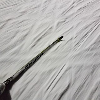 cross-country skiing down @powerline never gets old :-) #lucky #thanks #luxury 20180307_205449