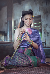 N13_5675 (Bugphai ;-)) Tags: dress flower lotus wedding original thai beautiful young traditional people happy white asian girl thailand female person portrait cute style attractive pretty fashion vintage temple model hair women culture woman indoor worship buddha bangkok nature beauty costume girls mai chiang summer adult caucasian healthy concept face travel smile retro human