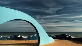 Beach promenade in the sunshine - Wishing you a wonderful week