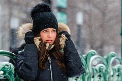 Erika-9 (TheEvilDonut Photography) Tags: woman outdoors portrait winter gorgeous beautiful stunning snow urban montreal thin