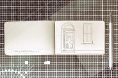 Dublin door... (CatMacBride) Tags: doodle drawing notebook pen doubleexposure door