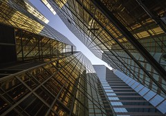 Hong Kong glass (reinaroundtheglobe) Tags: hongkong kowloon lookup towardsthesky architecture modernarchitecture buildings glass modern