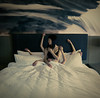 (Wendy Lu.) Tags: wendylu canon5d selfportrait girl female woman asian short hair bob creepy surreal fantasy multiple arms reaching macabre horror armsreachingoutfrombedsheets white sheets hotel room natural light moody photoshop manipulation conceptual thoughtful