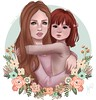Roula and Mommy (YunoGosai Resident (Busy RL)) Tags: rou family sl second life mom daughter
