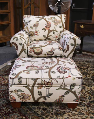 Stickley Upholstered Club Chair w/ Ottoman ($364.00)