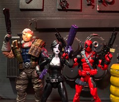 Trifecta of cool (chevy2who) Tags: cable domino deadpool figure action toyphotography toy legends marvel
