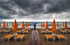 Wet beach (Ivano Di Benedetto) Tags: wet beach symmetry simmetria clouds spiaggia pioggia rain sea adriaticsea summer estate sand yellow colors storm coloursplosion playa outside nuvole orange
